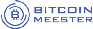 Bitcoin Meester logo paars broker CoinCompare
