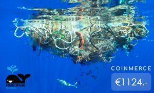 Plastic in beautiful blue ocean