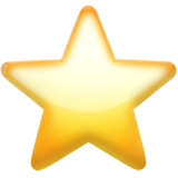 Yellow orange emoji star