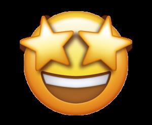 Yellow emoji with star eyes