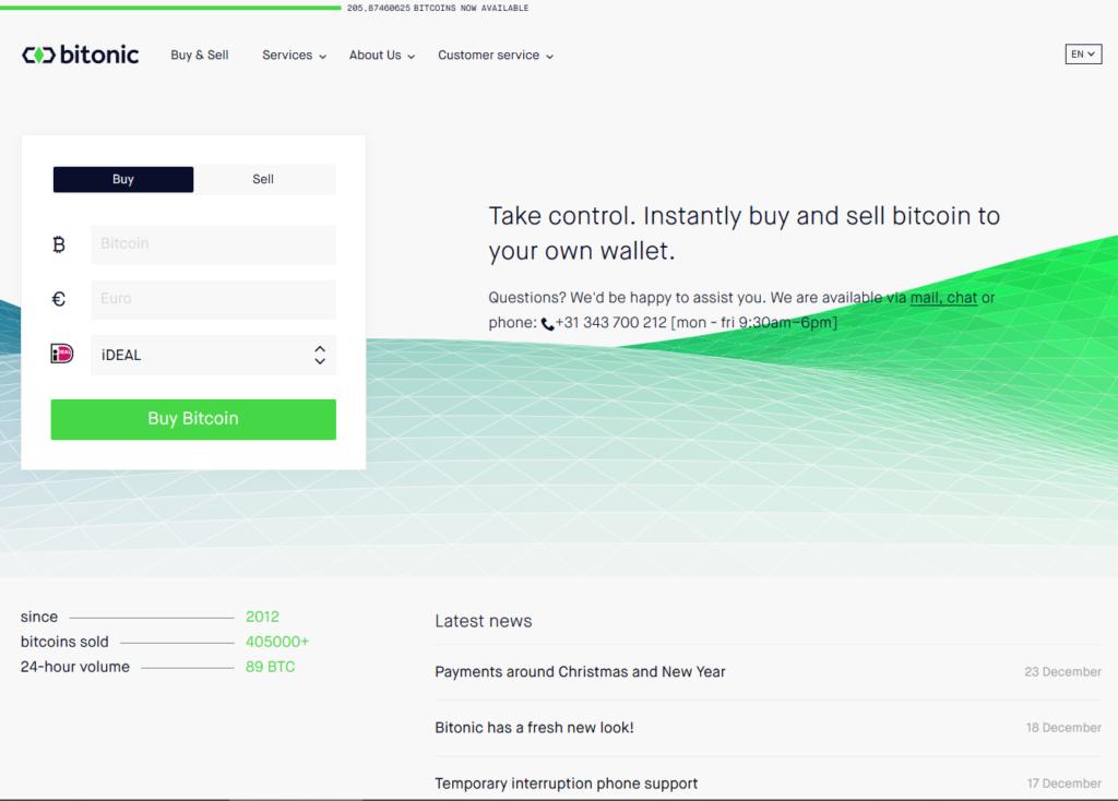 Bitonic groene bergen hoofdpagina bij CoinCompare
