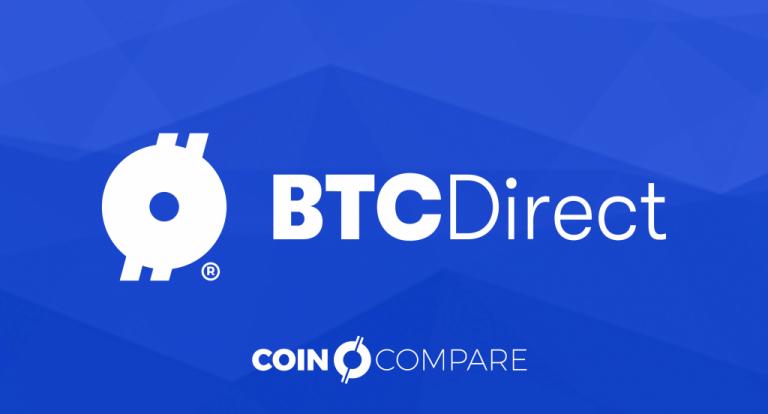BTCDirect nieuws bij CoinCompare blauwe titel banner NL