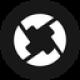 Zwarte cirkel met witte gedraaide pijlen als 0x (ZRX) token logo - CoinCompare