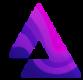 Paarse driehoek als Audius (AUDIO) crypto token logo - CoinCompare