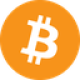 Orange circle with a white currency letter B symbol as Bitcoin (BTC) coin logo - CoinCompare