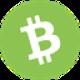 Groene circkel met een witte valuta letter B symbool als Bitcoin Cash (BCH) coin logo - CoinCompare