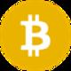 Light orange with a currency letter B as Bitcoin SV (BSV) coinLicht oranje circkel met een witte valuta letter B as Bitcoin SV (BSV) coin logo - CoinCompare