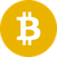 Licht oranje circkel met een witte valuta letter B symbool als Bitcoin SV (BSV) coin logo - CoinCompare