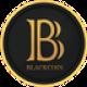 Zwarte cirkel met goude randen en een gouden valuta letter B als BlackCoin (BLK) coin logo - CoinCompare