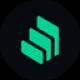 Zwarte cirkel met drie groene archief lagen als Compound (COMP) token logo - CoinCompare