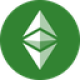 Green circle with two green coloured arrows and one green diamond shape as Ethereum Classic (ETC) coin logo - CoinCompare