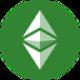 Groene cirkel met twee groen gekleurde pijlen en een groene diamant als Ethereum Classic (ETC) coin logo - CoinCompare