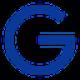 Blauwe G als valuta symbool als Gulden (NLG) coin logo - CoinCompare