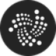 Black circle with white dotted twisted lines as IOTA (MIOTA) coin logo - CoinCompare