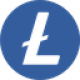 Dark blue circle with a transparant currency letter L as Litecoin (LTC) coin logo - CoinCompare