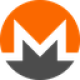 Orange and black circle with a transparant M letter as Monero (XMR) coin logo - CoinCompare