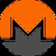 Oranje met zwarte cirkel en een transparante M letter als Monero (XMR) coin logo - CoinCompare