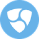Light blue circle with three shields as NEM (XEM) coin logo - CoinCompare