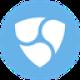 Licht blauwe cirkel met drie witte schilden als NEM (XEM) coin logo - CoinCompare