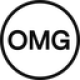White circle with a black edge and black letters OMG as OMG Network (OMG) coin logo - CoinCompare