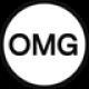 Witte cirkel met een zwarte rand en zwarte OMG letters als OMG Network (OMG) coin logo - CoinCompare