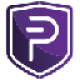 Purple shield with a white currency P symbol as PIVX (PIVX) coin logo - CoinCompare