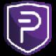 Paarse schild met een witte valuta P symbool als PIVX (PIVX) coin logo - CoinCompare