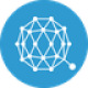 Blue circle with a tangeld connections as Qtum (QTUM) coin logo - CoinCompare