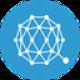 Blauwe cirkel met witte verwoven verbindingen als Qtum (QTUM) coin logo - CoinCompare