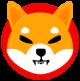 Red circle with an angry Shiba Inu as Shiba Inu (SHIB) token logo - CoinCompare
