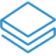 Blue shaped layers as a book as Stratis (STRAX) coin logo - CoinCompare