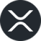 Black circle with a white interrupted X as XRP (XRP) coin logo - CoinCompare